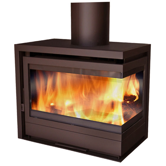 Chimenea a dos caras awesome trendy decorative gas - Chimeneas decorativas precios ...