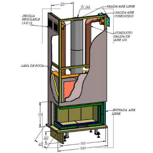 montaje-chimenea-leña-puerta-escamoteable-hse-100-lateral-izquierdo