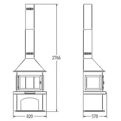 medidas-chimenea-leña-diseño-bilbao