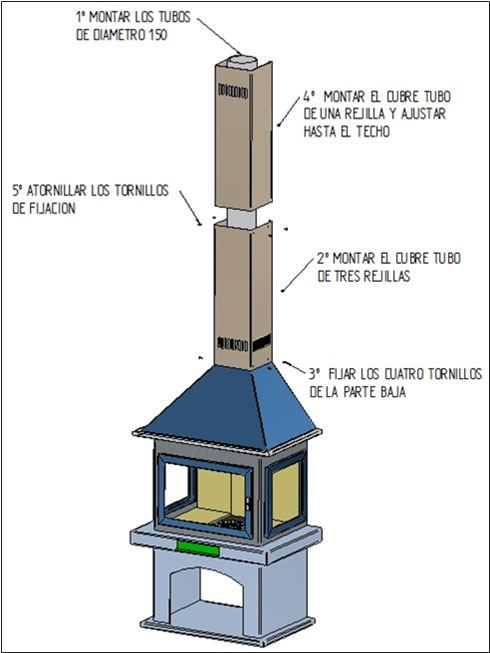 montaje-chimenea-leña-diseño-bilbao