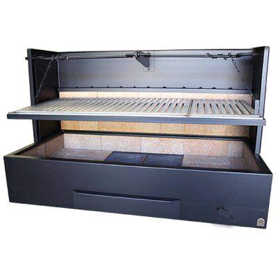 barbacoa-leña-carbon-b-100x50-negra-manivela