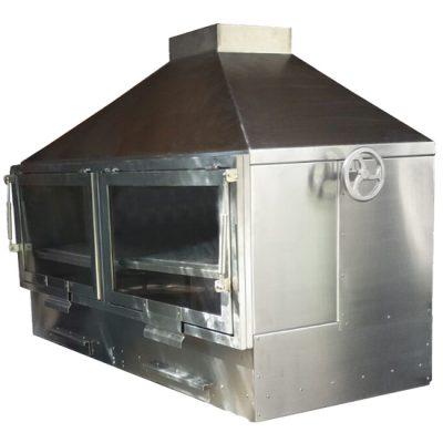 barbacoa-horno-leña-carbon-bh-150-inox-puertas-cerradas